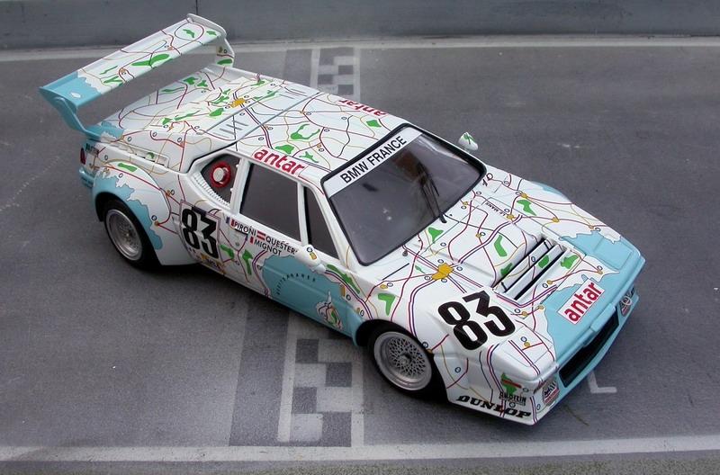 Boutique Renaissance-models - BMW M1 Gr.4 Carte de France Le Mans 1980 n°83